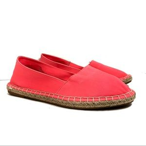 Soda neon coral espadrille slip-on Flat size 6 NEW